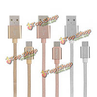 Foneng 1m сплава нейлона оплетки микро USB быстрой зарядки дата кабель для мобильного телефона планшет