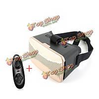 Универсальные виртуальной реальности 3D видео очки вр коробка с мини-контроллер Bluetooth для iPhone Samsung смартфон