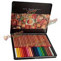 Марко Ренуара изобразительного искусства 24 цветной рисунок базового масла нетоксичный набор карандашей олова