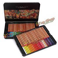 48 цветные карандаши для рисования установлен искусство базового масла нетоксичны железной коробке