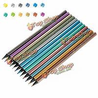 12шт 12 цветов металлический блеск нетоксичный рисования эскизов цвета карандаши