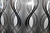 Самоклейка черно-серая волна 45 см