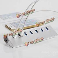 5 Гбит высокоскоростной алюминиевый USB 3.0 7-портовый разветвитель Hub адаптер