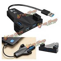 4-портовый высокоскоростной концентратор USB 3.0 адаптер для настольного ноутбука Мак