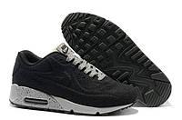 Кроссовки мужские Nike Air Max 90 VT Tweed (найк аир макс 90 вт твид) черные