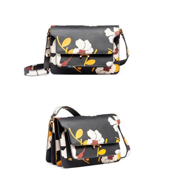 Женская сумочка через плечо Marni Tricolor Trunk Bag