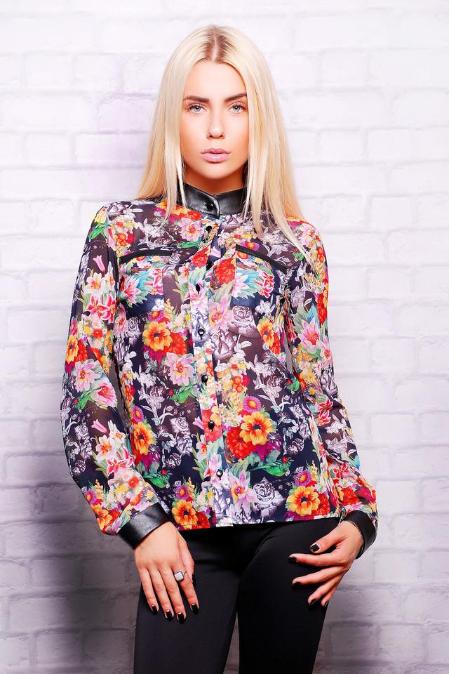 Цветочная блузка