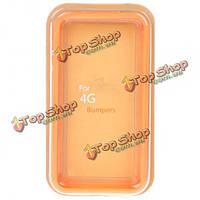 Стильный защитный чехол бампера рамка для iPhone 4 4s 4G S-оранжевый