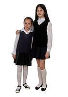 """Жилет вязаный для девочки школьный, """"Silena"""" Без капюшона, 152"""