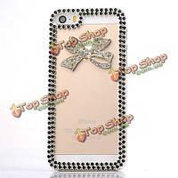 Diamond Bowknot пластиковый защита крышки случая для iPhone 5 5С