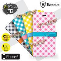 Baseus особенно идеально магнитный держатель кожаный чехол с карманами карт для iPhone 6 6s 4.7
