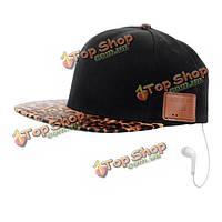 Зерно леопарда беспроводной Bluetooth Sunbonnet Зонт крышка Music хип-хоп шляпа