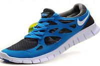 Синие кроссовки Nike Free Run 2.0.