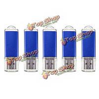 5 x 128 Мб USB 2.0 флэш-накопитель U диск памяти хранения конфет синий палец