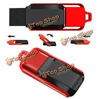 4Гб USB 2.0 поворотный черный и красный памяти флэш-накопитель большого пальца руки ручка U диск
