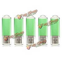 5 x 128 Мб USB 2.0 флэш-накопитель U диск памяти хранения конфеты зеленый палец