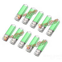 10 x 128 Мб USB 2.0 флэш-накопитель U диск памяти хранения конфеты зеленый палец