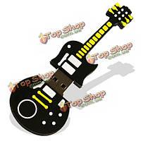 Симпатичные 8GB черный гитара в стиле флэш-диск USB 2.0 карты памяти U диск