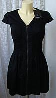 Платье черное хлопок Sisters Point р.40-42 7007