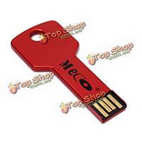 Меко 2gb металла красочный ключ флэш-накопитель USB 2.0 памяти у диска большой палец ручка палки