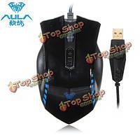 Аула manum игровой USB проводная оптическая мышь с дыханием лампы
