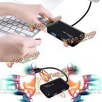 4 порта USB 3.0 портативный компактный 5 Гбит скорости Hub адаптер для портативных ПК Mac