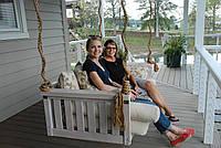 Подвесной диван. Садовые качели Wood Luxury., фото 1