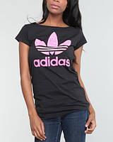 """Женская футболка """"Adidas"""" черная"""