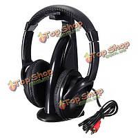 5в1 цены беспроводные наушники класса HiFi монитор FM радио микрофон для ПК ТВ DVD аудио мобильного