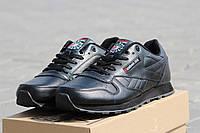 Кожаные мужские кроссовки Reebok Classic черные