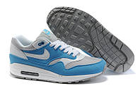 Кроссовки мужские Nike Air Max 87 (найк аир макс 87) серо-голубые