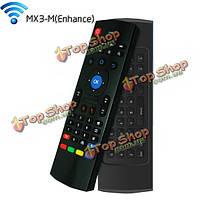Mx3-м беспроводная мышь воздуха 2.4GHz двойной клавиатура с голосового ввода дистанционного управления для ПК Smart TV андроид TV Box