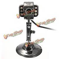 6 LED кабель USB2.0 веб-камера HD веб-камера видео-камера с микрофоном ночного видения