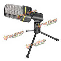 СФ-920 мультимедиа студийный проводной конденсаторный микрофон с штатив стенд