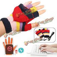 Ноутбук USB отопления половина / полный палец перчатки встроенный в теплой площадку для игр / работа в офисе / дома держать