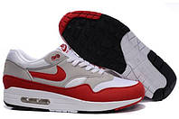 Кроссовки мужские Nike Air Max 87 (найк аир макс 87) красно-белые