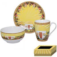 Набор для завтрака 3 пр (тарелка,чашка ,пиала) Наши традиции/Хатынка