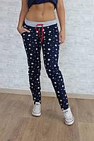 """Стильные женские штаны брюки с принтом зцвезды из качественной двунитки """"Сирия"""""""