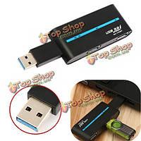 Портативный высокоскоростной внешний 4-портовый USB 3.0 Hub адаптер для портативных ПК