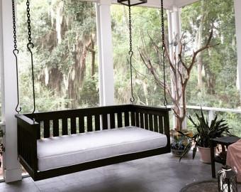 Садовые качели купить черный - Wood Luxury в Киеве