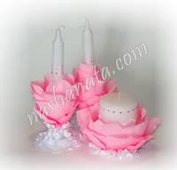Набор свадебных свечей 016