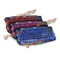 V100 трещина освещение LED подсветка PC Gaming мультимедийная клавиатура USB проводной пульт