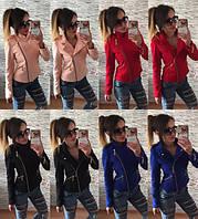 Пальто женское короткое, ткань кашемир  Цвет: черный, электрик, красный, персик. амел № 227340