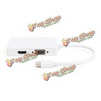 Lention удар Lightning мини-дисплей порт DVI VGA HDMI 3в1 многофункциональный адаптер ТВЧ