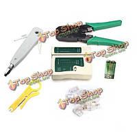 6в1 разъем RJ45 в RJ11 cat5 сети набор инструментов кабельный тестер кримпер плагин установить