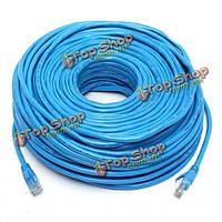 50м/164feet RJ45 cat6 Cat6e локальных сетей LAN интернет проводной сетевой кабель шнур синий