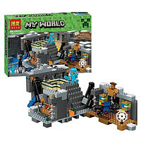 Конструктор для мальчиков Minecraft 10470, странники Края, паук, Стив в доспехах, 571 деталь