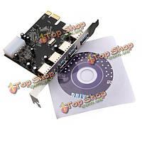 Разъем PCI-е разъема PCI Express для 4 порт USB3.Вли 0 USB-концентратор Card адаптер 5 Гбит