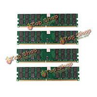4шт 4Гб DDR2 800МГц PC2-6400 240 булавки настольных ПК AMD памяти материнской платы