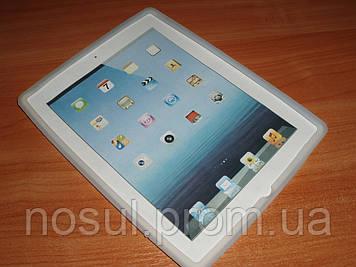 Силиконовый чехол накладка для планшетов iPad 2, iPad 3, iPad 4. Белый цвет.
